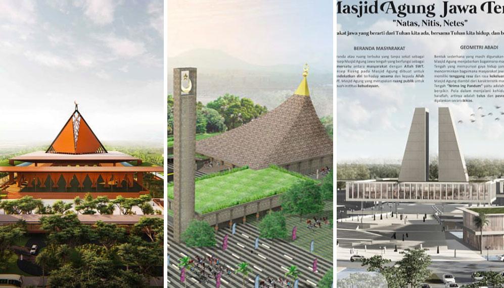 Photo of Diikuti 53 Peserta, Ini Tiga Desain Terbaik Sayembara Masjid Agung Jateng