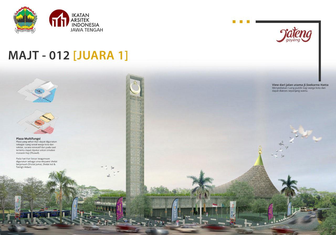Photo of Berbekal Skripsi, Arsitek Bandung Menangi Sayembara Desain Masjid Agung Jateng