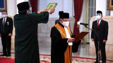Photo of Presiden Saksikan Pengucapan Sumpah Wakil Ketua MA Bidang Yudisial