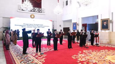 Photo of Presiden Jokowi Lantik Dewan Pengawas Beserta Direksi BPJS Kesehatan dan BPJS Ketenagakerjaan 2021-2026