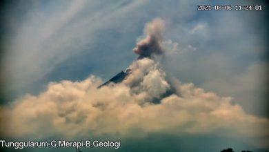 Photo of Gunung Merapi Kembali Keluarkan Awan Panas Jum'at Siang