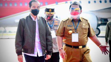 Photo of Kunker ke Lampung, Jokowi Tinjau Vaksinasi dan Resmikan Bendungan